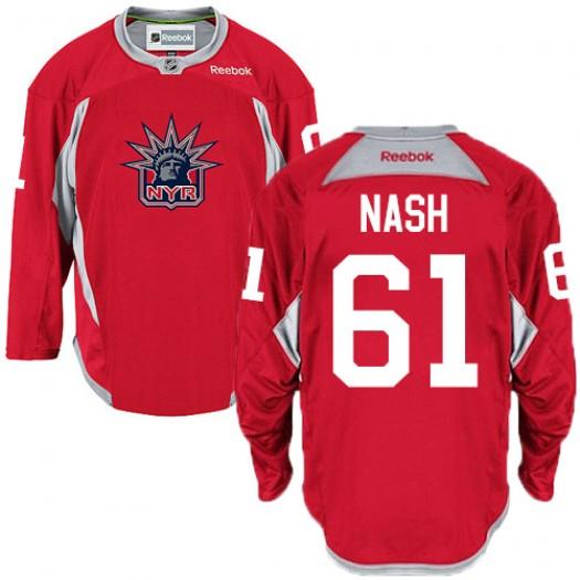 Rick Nash New York Rangers Men's Reebok Authentic Red Statue of Liberty Practice Jersey