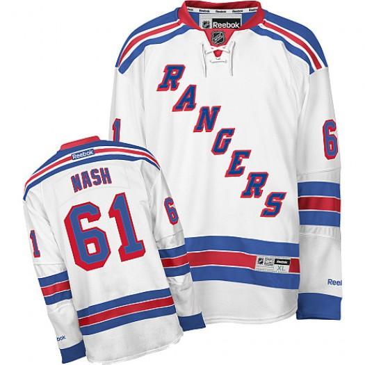 Rick Nash New York Rangers Men's Reebok Authentic White Away Jersey