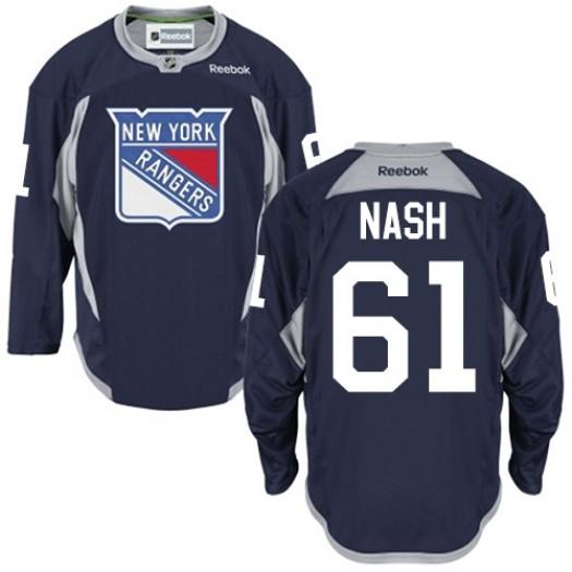 Rick Nash New York Rangers Men's Reebok Premier Navy Blue Practice Jersey