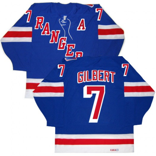 Rod Gilbert New York Rangers Men's CCM Authentic Royal Blue New Throwback Jersey