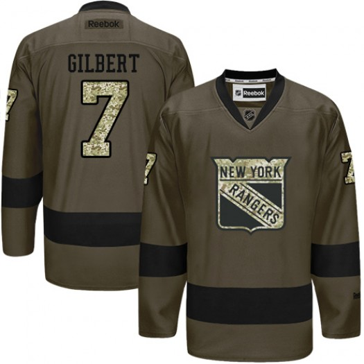 Rod Gilbert New York Rangers Men's Reebok Premier Green Salute to Service Jersey
