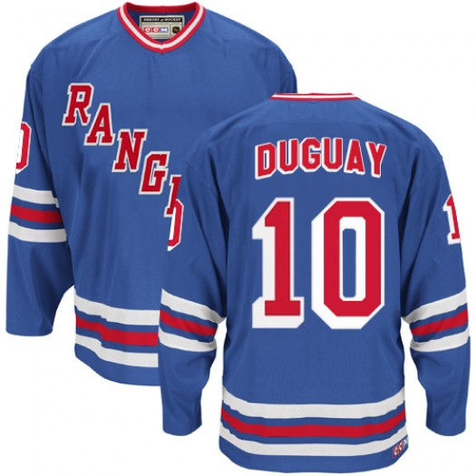 Ron Duguay New York Rangers Men's CCM Authentic Royal Blue Heroes of Hockey Alumni Throwback Jersey