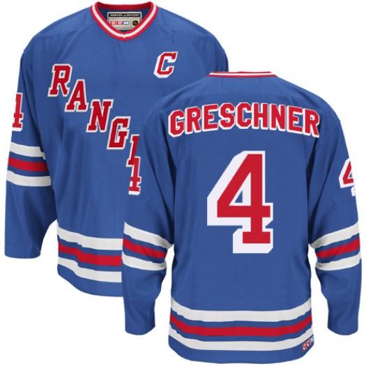 Ron Greschner New York Rangers Men's CCM Authentic Royal Blue Heroes of Hockey Alumni Throwback Jersey