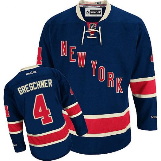 Ron Greschner New York Rangers Men's Reebok Authentic Navy Blue Third Jersey