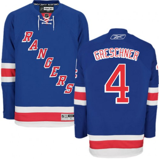 Ron Greschner New York Rangers Men's Reebok Authentic Royal Blue Home Jersey