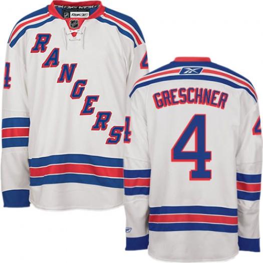 Ron Greschner New York Rangers Men's Reebok Authentic White Away Jersey