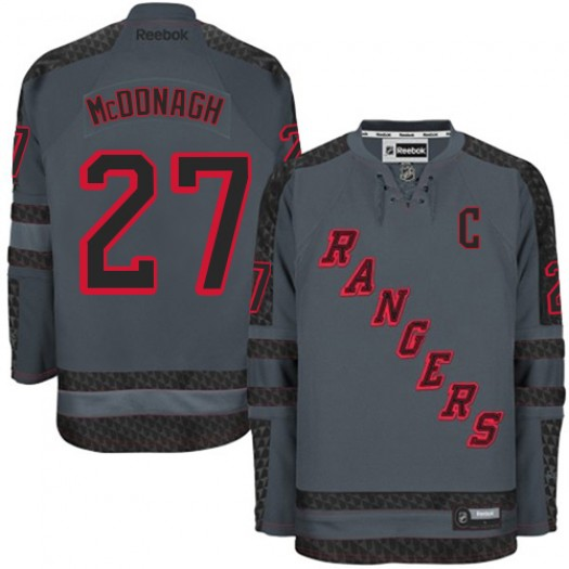 Ryan McDonagh New York Rangers Men's Reebok Authentic Charcoal Cross Check Fashion Jersey