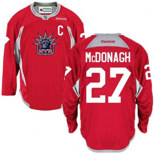 Ryan McDonagh New York Rangers Men's Reebok Authentic Red Statue of Liberty Practice Jersey