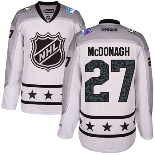 Ryan McDonagh New York Rangers Men's Reebok Authentic White Metropolitan Division 2017 All-Star Jersey