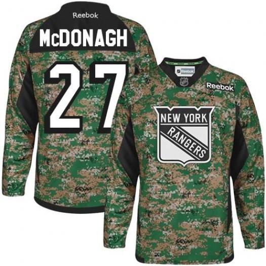 Ryan McDonagh New York Rangers Men's Reebok Premier Camo Veterans Day Practice Jersey