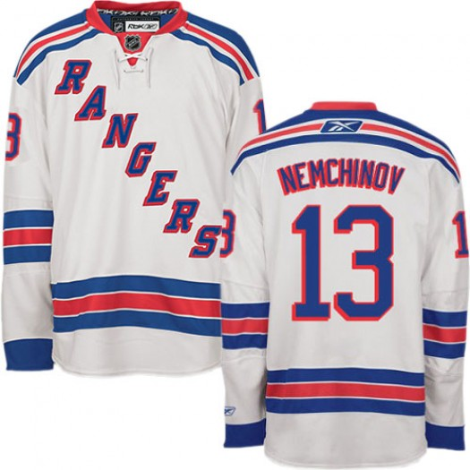 Sergei Nemchinov New York Rangers Men's Reebok Premier White Away Jersey