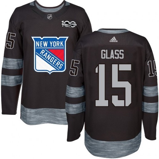 Tanner Glass New York Rangers Men's Adidas Premier Black 1917-2017 100th Anniversary Jersey