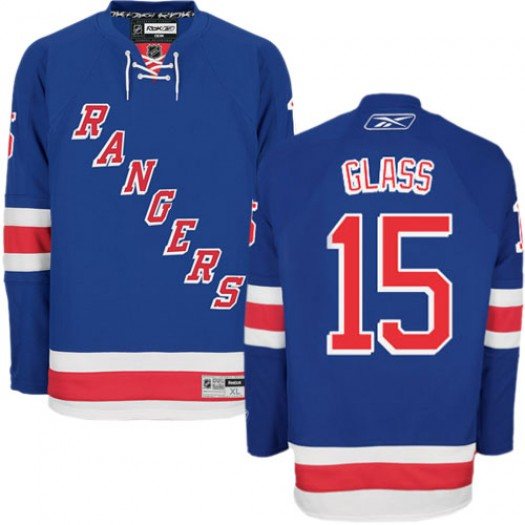 Tanner Glass New York Rangers Men's Reebok Authentic Royal Blue Home Jersey