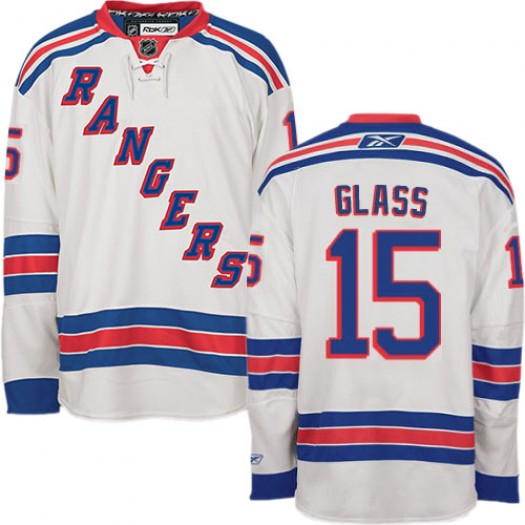 Tanner Glass New York Rangers Men's Reebok Authentic White Away Jersey