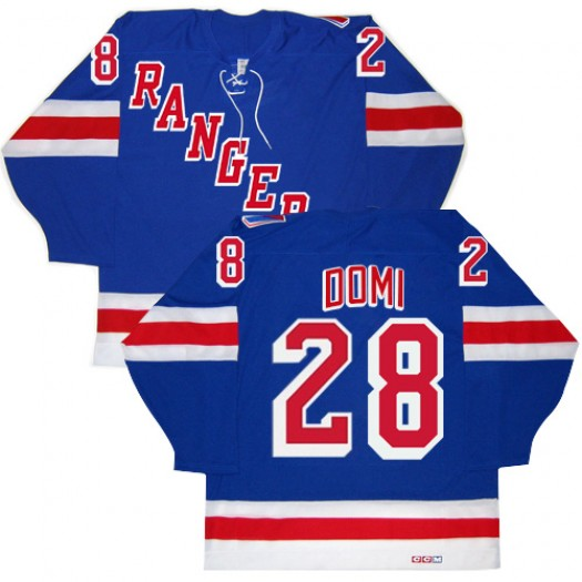 Tie Domi New York Rangers Men's CCM Authentic Royal Blue New Throwback Jersey