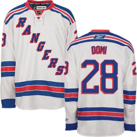 Tie Domi New York Rangers Men's Reebok Authentic White Away Jersey