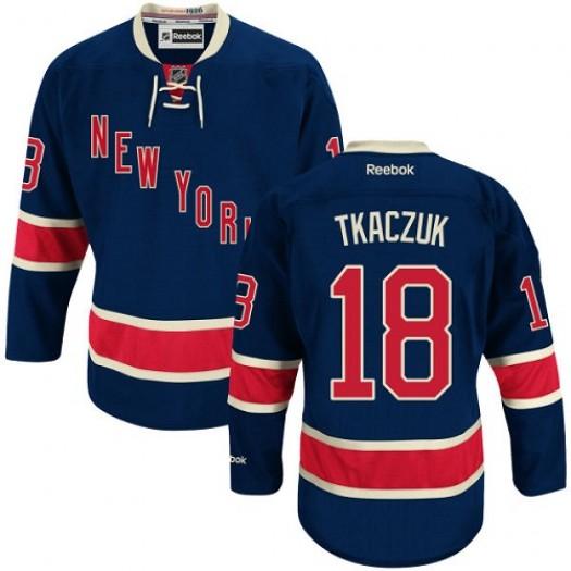 Walt Tkaczuk New York Rangers Men's Reebok Authentic Navy Blue Third Jersey