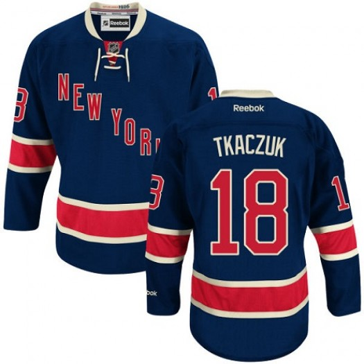 Walt Tkaczuk New York Rangers Men's Reebok Premier Navy Blue Third Jersey
