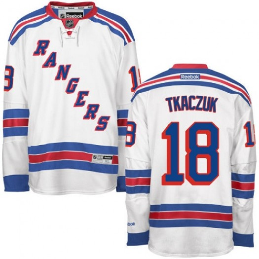 Walt Tkaczuk New York Rangers Men's Reebok Premier White Away Jersey