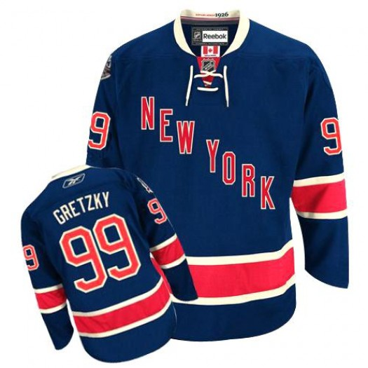 Wayne Gretzky New York Rangers Men's Reebok Premier Navy Blue Third Jersey