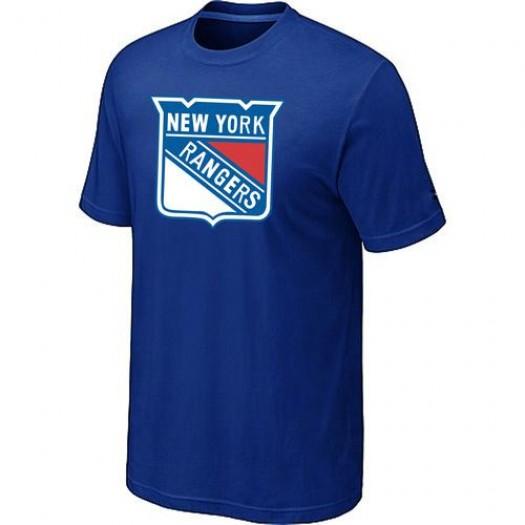 New York Rangers Men's Blue Big & Tall Logo T-Shirt