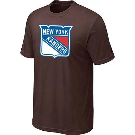 New York Rangers Men's Brown Big & Tall Logo T-Shirt