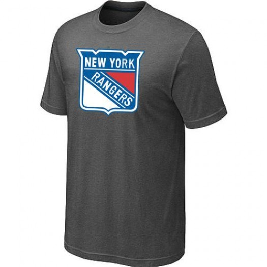 New York Rangers Men's Dark Grey Big & Tall Logo T-Shirt
