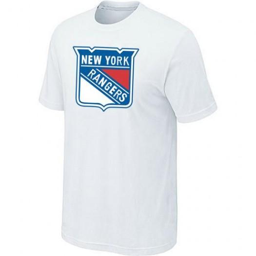 New York Rangers Men's White Big & Tall Logo T-Shirt