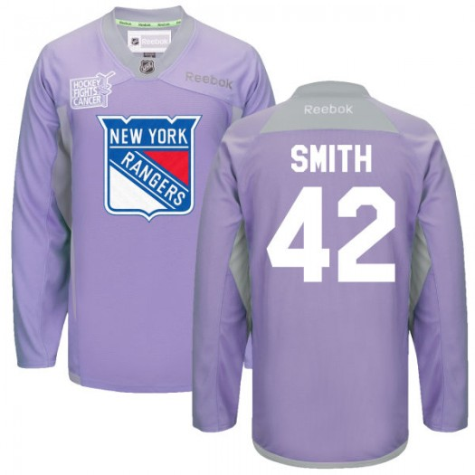 Brendan Smith New York Rangers Men's Reebok Replica Purple 2016 Hockey Fights Cancer Practice Jersey