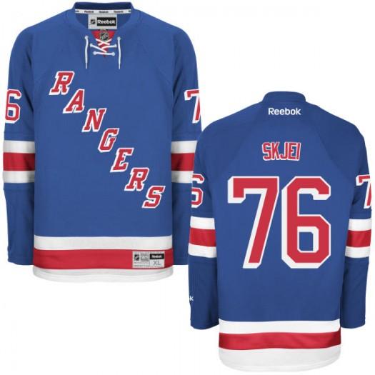 Brady Skjei New York Rangers Men's Reebok Replica Blue Home Jersey
