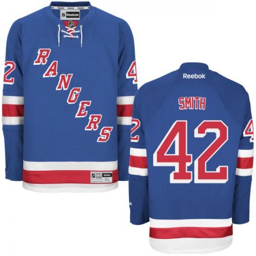 Brendan Smith New York Rangers Men's Reebok Replica Blue Home Jersey