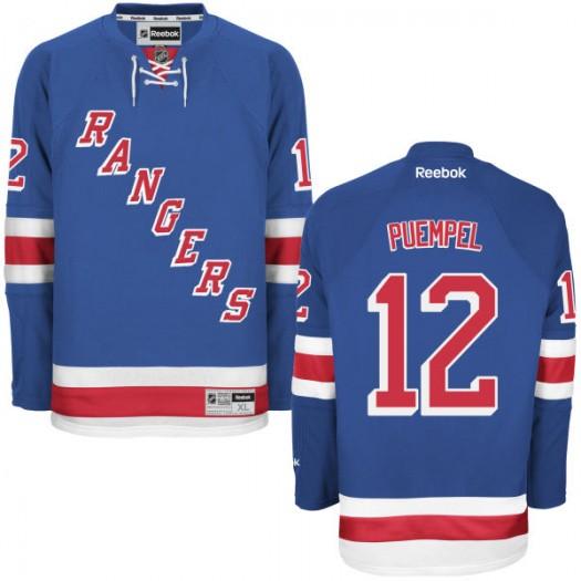 Matt Puempel New York Rangers Men's Reebok Replica Blue Home Jersey
