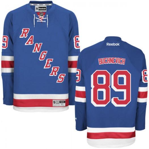 Pavel Buchnevich New York Rangers Men's Reebok Replica Blue Home Jersey