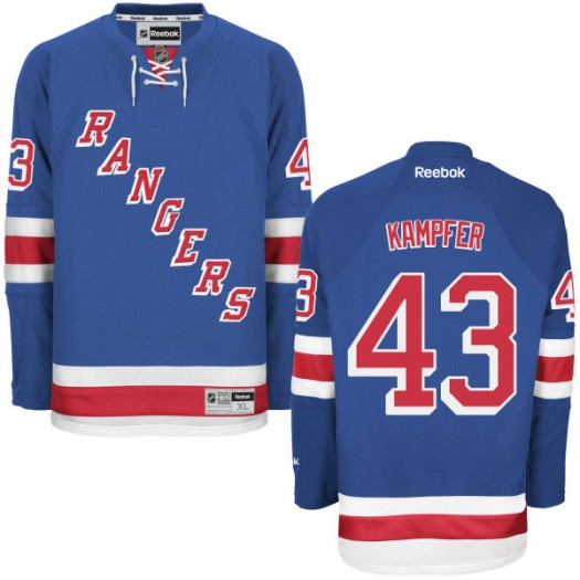 Steven Kampfer New York Rangers Men's Reebok Replica Blue Home Jersey