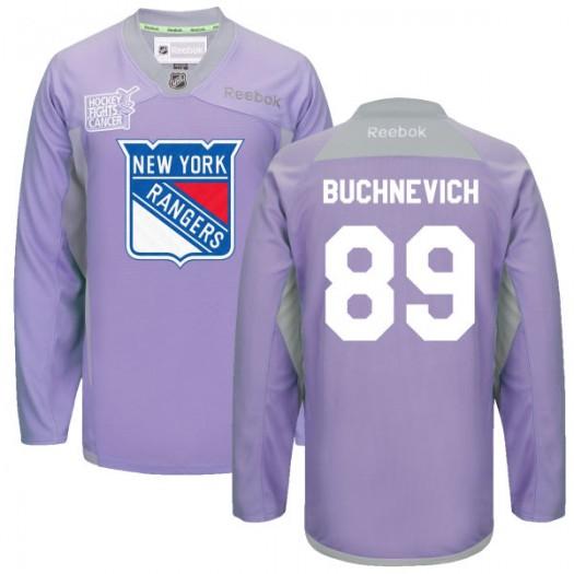 Pavel Buchnevich New York Rangers Men's Reebok Premier Purple 2016 Hockey Fights Cancer Practice Jersey