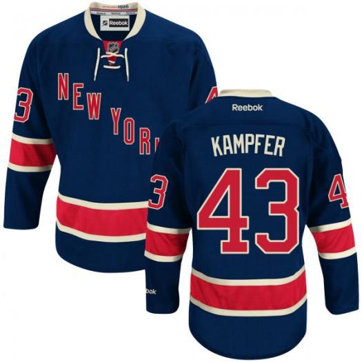 Steven Kampfer New York Rangers Men's Reebok Premier Blue Alternate Jersey