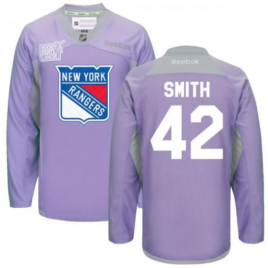 Brendan Smith New York Rangers Men's Reebok Authentic Purple 2016 Hockey Fights Cancer Practice Jersey