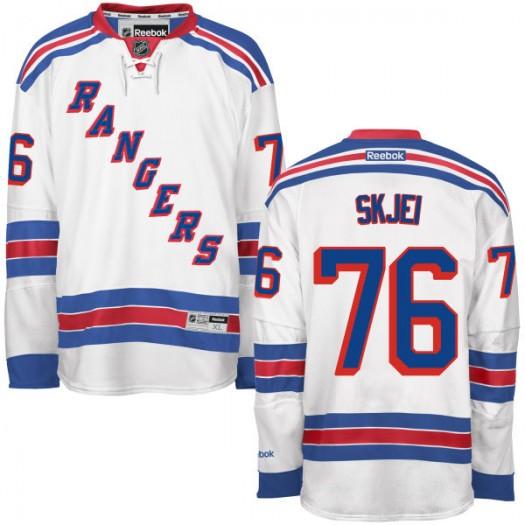 Brady Skjei New York Rangers Men's Reebok Authentic White Away Jersey
