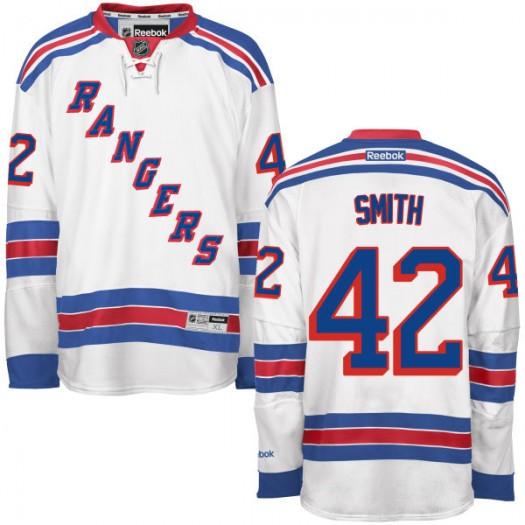 Brendan Smith New York Rangers Men's Reebok Authentic White Away Jersey