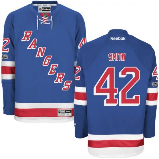 Brendan Smith New York Rangers Men's Reebok Authentic Royal Home Centennial Patch Jersey