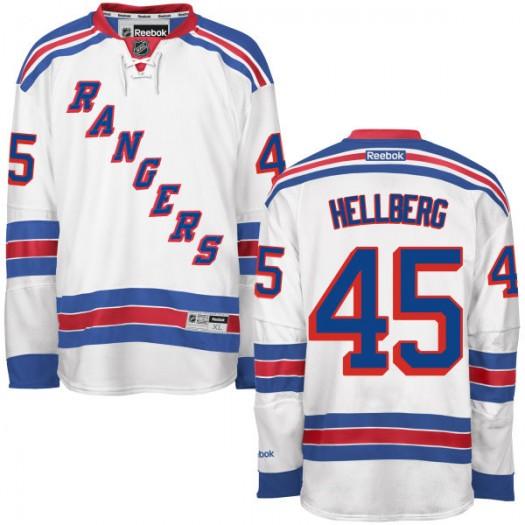 Magnus Hellberg New York Rangers Youth Reebok Replica White Away Jersey