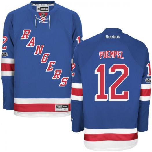 Matt Puempel New York Rangers Youth Reebok Replica Royal Home Centennial Patch Jersey