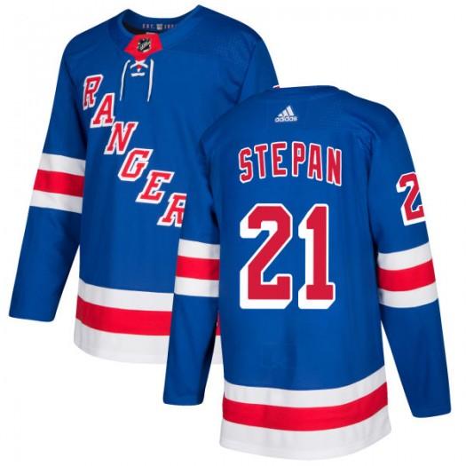 Derek Stepan New York Rangers Men's Adidas Authentic Royal Jersey