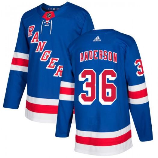 Glenn Anderson New York Rangers Men's Adidas Authentic Royal Jersey