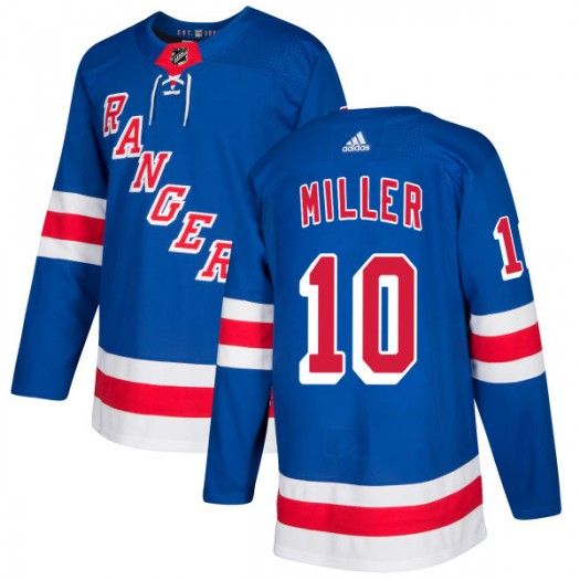 J.T. Miller New York Rangers Men's Adidas Authentic Royal Jersey
