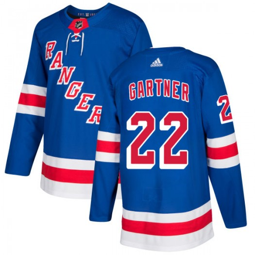 Mike Gartner New York Rangers Men's Adidas Authentic Royal Jersey