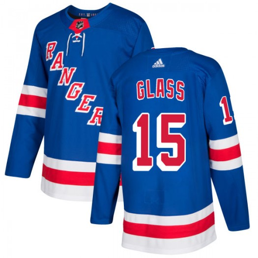Tanner Glass New York Rangers Men's Adidas Authentic Royal Jersey