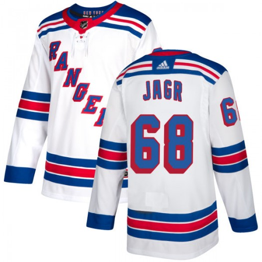 Jaromir Jagr New York Rangers Men's Adidas Authentic White Jersey