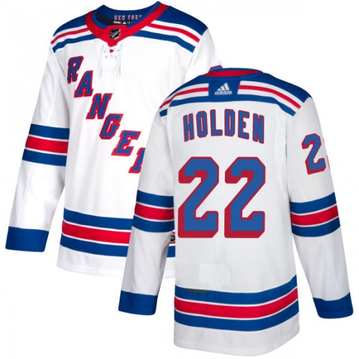 Nick Holden New York Rangers Men's Adidas Authentic White Jersey