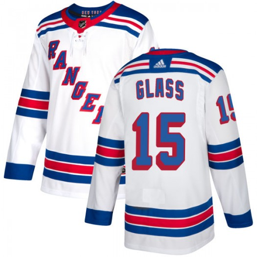 Tanner Glass New York Rangers Men's Adidas Authentic White Jersey